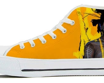 King Basquiat High Top Canvas Shoes