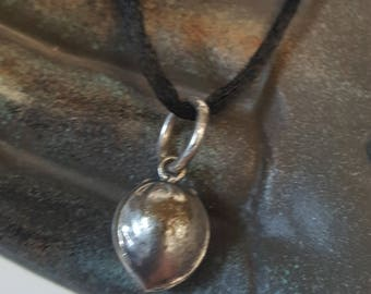 Small Seed Pendant In Sterling Silver