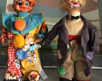 Bottle Dolls Clown Couple