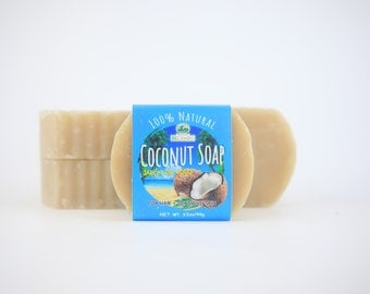 100% Coconut Oil Soap - 4 Pack