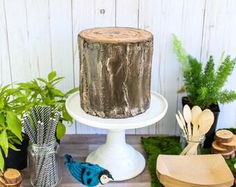 Log Cake- Fake cake, prop cake, party decor
