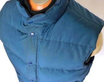 SNOW GOOSE - Canada Goose DOWN Filled Vest Puffy Made in Canada Size L Puffer