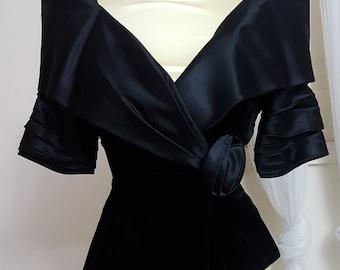 Vintage Susan Roselli for Vijack Black Bodice
