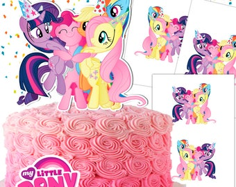My Little Pony Cake Topper Double-Sided/My Little Pony Centerpiece/My Little Pony Party/Printable