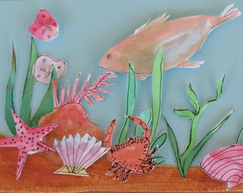 Hand painted Sea Life Greeting Cards