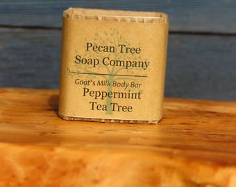 Peppermint Tea Tree Goats Milk Body Bar Soap