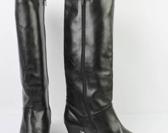 VINTAGE boots OSCAR's France leather black