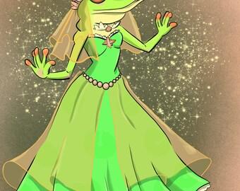 Princess Frog Signed Print