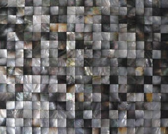 Mother Of Pearl Square Mosaic Tile-Seamless