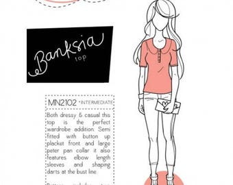 Megan Nielsen Banksia Top Pattern