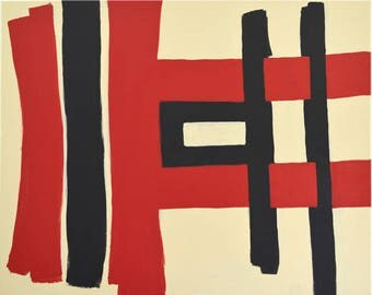 Fantasy in Red Acrylic on linnen 100 x 80 cm