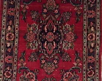 Oriental 2x3' Vintage Pile Rug