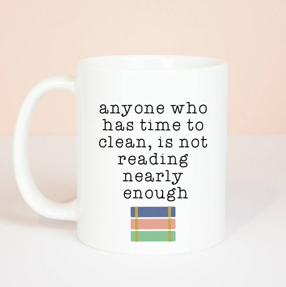 Personalised book mug, funny reading books mug, great gift for book lovers or book worms for birthday
