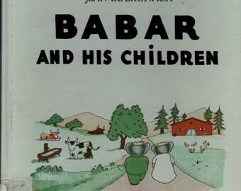 Babar and His Children - Jean de Brunhoff - 1966 - Vintage Kids Book