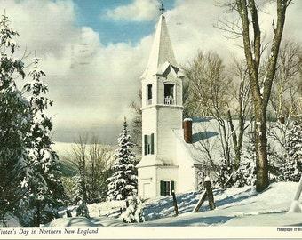 Vintage 1960s Postcard Jefferson New Hampshire Scenic Country Church New England Gorham Lancaster Photochrome Era Postmarked