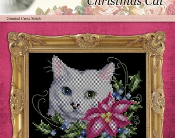 Christmas Cat Counted Cross Stitch Pattern