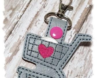 Quarter Keeper Key Chain, Shopping Cart Quarter Holder, Quarter Keeper Key Fob, Shopping Cart Keychain, Gifts for Her, Shopping Cart Key Fob