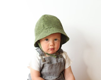 Baby and Toddler Bucket Sun Hat in Green