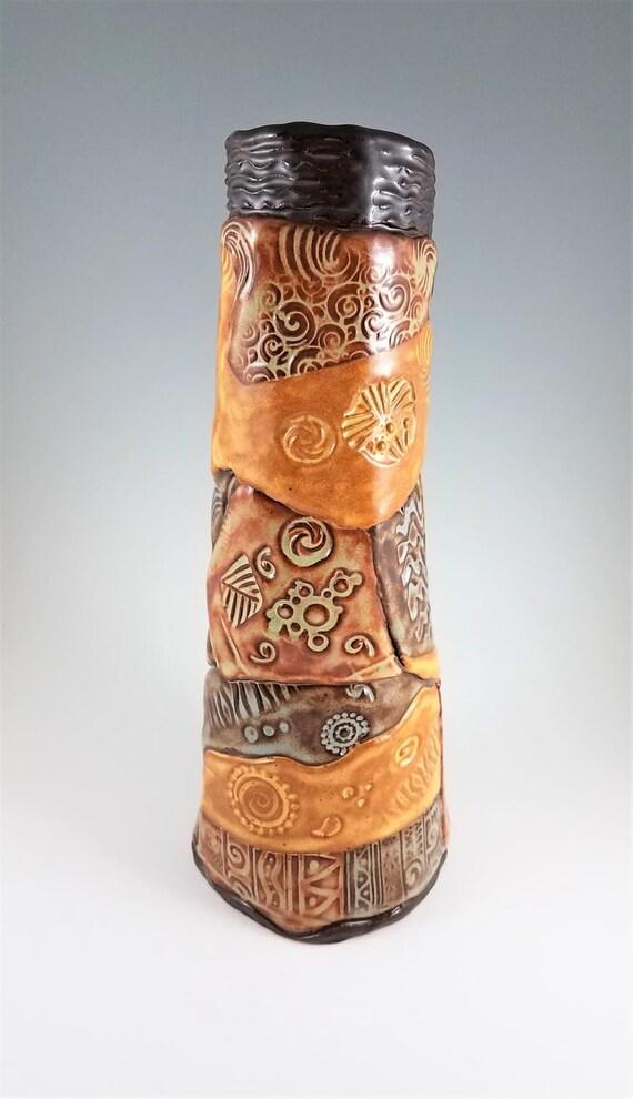 Handmade Pottery - Ceramic Vase - Decorative Vase - Stoneware Vase - Flower Vase - Pottery Vase - Textured Vase - Clay Vase - Modern Vase