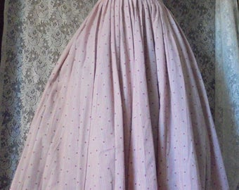 Pink 50s  dress cotton cream roses pin up mid century  frock   small  from vintage opulence on Etsy