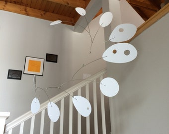 Modern Art Mobile Hanging Calder Style Mobius XLarge Home Decor Any Color Modern Sculpture Organic Shapes