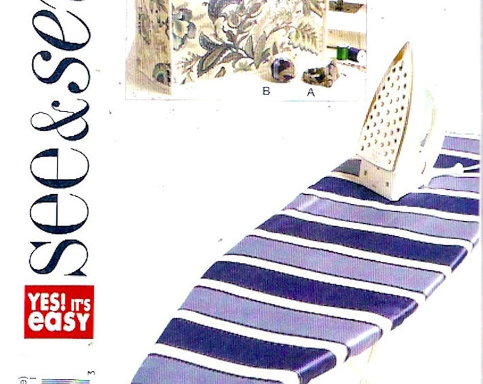 Sewing Machine cover ironing board cover pincushions sewing pattern See and Sew 5636 Seamstress home decor accessories UNCUT