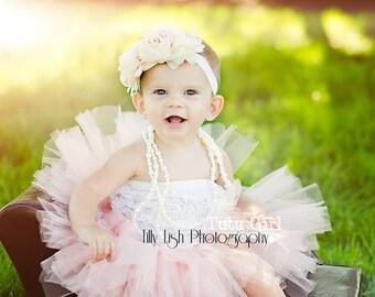Peach Tutu, Blush Tutu, Flower Girl Tutu, Girls 1st Birthday Tutu, Tull Skirt for Baby, Toddler.  All sizes, All Lengths