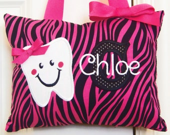 Tooth Fairy Pillow - Pink Zebra