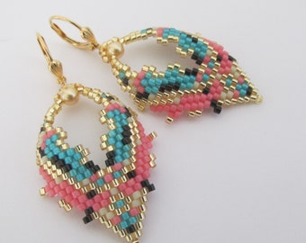 Beaded Leaf Earrings - Copyright 2013 - Patti Ann McAlister