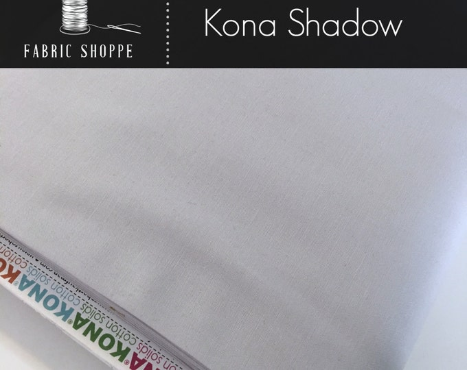 Kona cotton solid quilt fabric, Kona SHADOW 457, Gray fabric, Solid fabric Yardage, Kaufman, Cotton fabric, Choose the cut