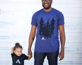 Father Son Matching Shirt Set - Wanderlust Camping Shirts, Adventure Shirts, Father Daughter T Shirts, New Dad and Baby Fathers Day Gift