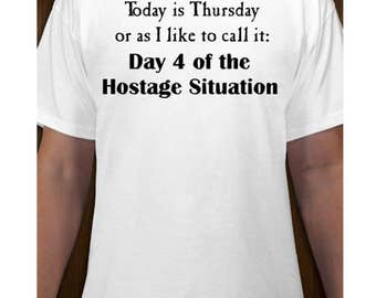 Today is Thursday T-shirt - Funny Work Office Humor - Comfy Solid Preshrunk Cotton Hanes Tagless Shirt Size S M L XL - Altered Attic