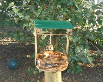 Wishing Well with Small handmade wooden bucket