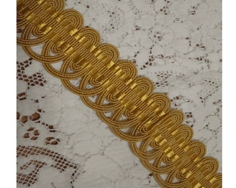 Vintage Wide MILLINERY TRIM - Woven STRAW and SiLK