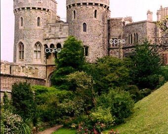 English Photography, Windsor Castle, Fine Art Print, England Photo, Landscape Print, English Castle, 5 x 7 Photograph, English Artwork