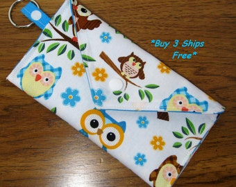 Wallet Case Credit Card Holder Key Ring Womens Wallet Cute Owls