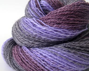 Handspun Lace Yarn -  Spindle Spun Gradient Merino Yarn - Lace Art Yarn- 1.75oz, 225yd, 19WPI