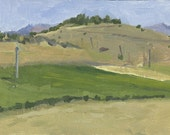 SALE! Farm Ashland, OR: Original Oil Painting Plein Air Landscape