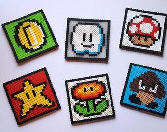 Made to Order - Nintendo 8-Bit Super Mario Bros. Perler Fusion Bead Coasters