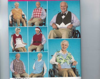 Craft Sewing Pattern Simplicity 2687 Adult Protective Clothing Costume Bibs Hats Apron Wheelchair UNCUT