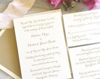 classic calligraphy wedding invitation thermography wedding invitation calligraphy wedding invitation modern script wedding - Thermography Wedding Invitations