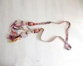 Long Colorful Moroccan Pom Pom Boho Woven Tassel Tie Belt