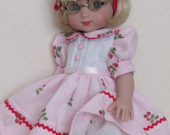 "Sweet ""Cherries"" Dress for Ann Estelle and Her 10"" Friends"