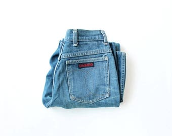 1970s Cacharel Distressed High Waist Jeans