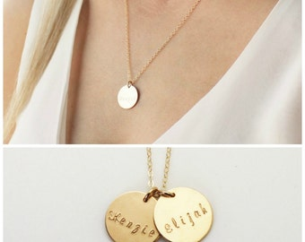 Custom Name Necklace, Personalized Necklace, Personalized Jewelry, New Mom Gift, Gold Necklace, Mothers Necklace, Hand Stamped Jewelry