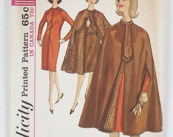 Simplicity Pattern 5674 Miss Size 12 Bust 32 1964
