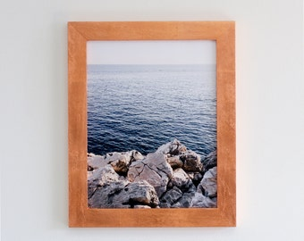 11x14 copper leaf picture frame with glass