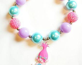 Poppy Troll Chunky necklace