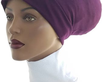 Plum Dreads Huggee Locs™ Beanie Cap Hat Plum Slouchy Hat Dreadlocks Rastafari Beanie Big Hair Long Hair Beanie Hat Handmade