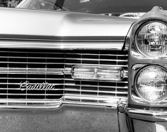 Classic Cadillac Coupe DeVille Car Photography, Automotive, Gold, Auto Dealer, Luxury Car, Mechanic, Boys Room, Garage, Dealership Art